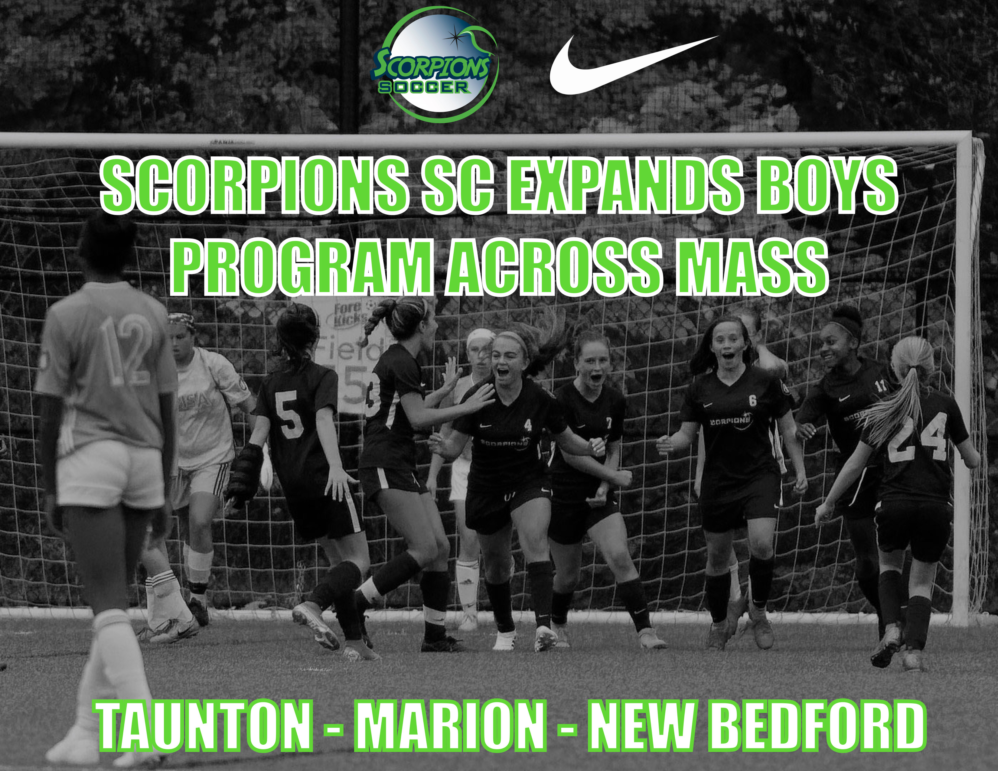 SCORPIONS SC EXPANDS BOYS PROGRAM ACROSS MASS !